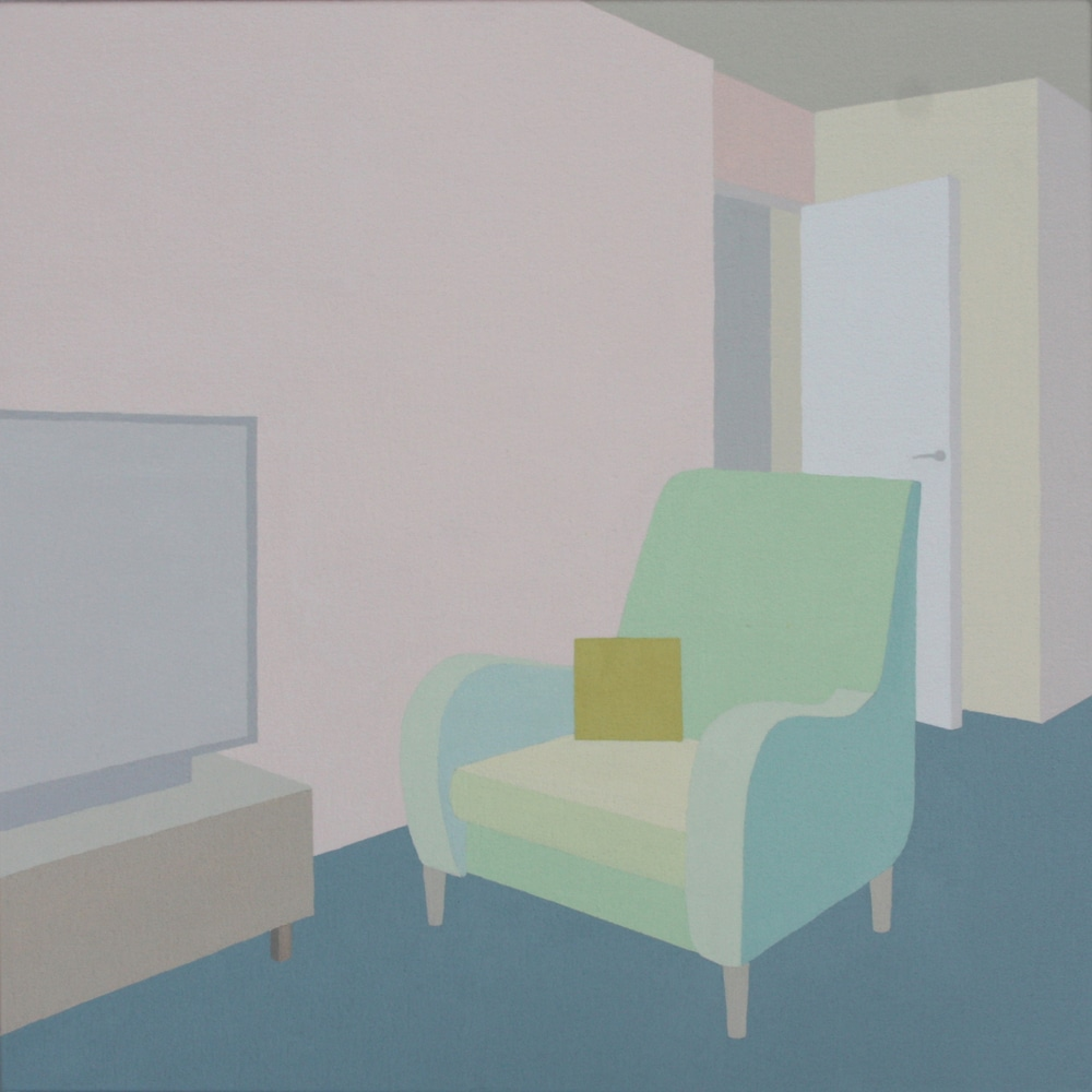 Schweger  zsofia bow  london  2 2017 acrylic on canvas 19.7x19.7in 50x50cm